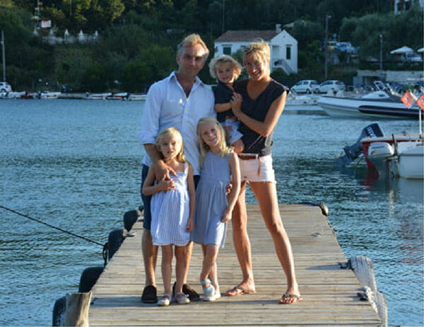 Piers and his family